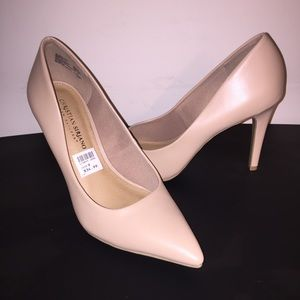 "Christian Siriano Payless Tan 4"" Heels Size 9"